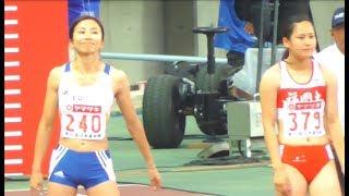 2017 日本陸上競技選手権 女子 Women's 100Hm 準決勝1組 Semi Final 1 thumbnail