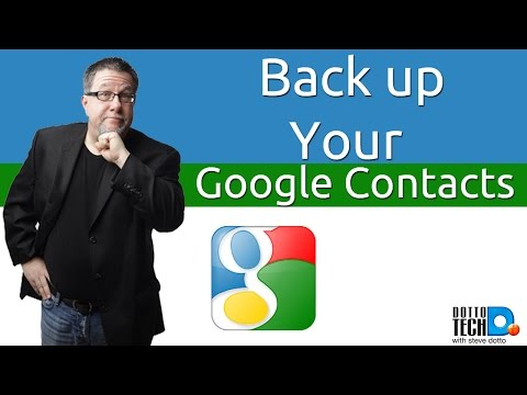 How to Backup Your Google Contacts