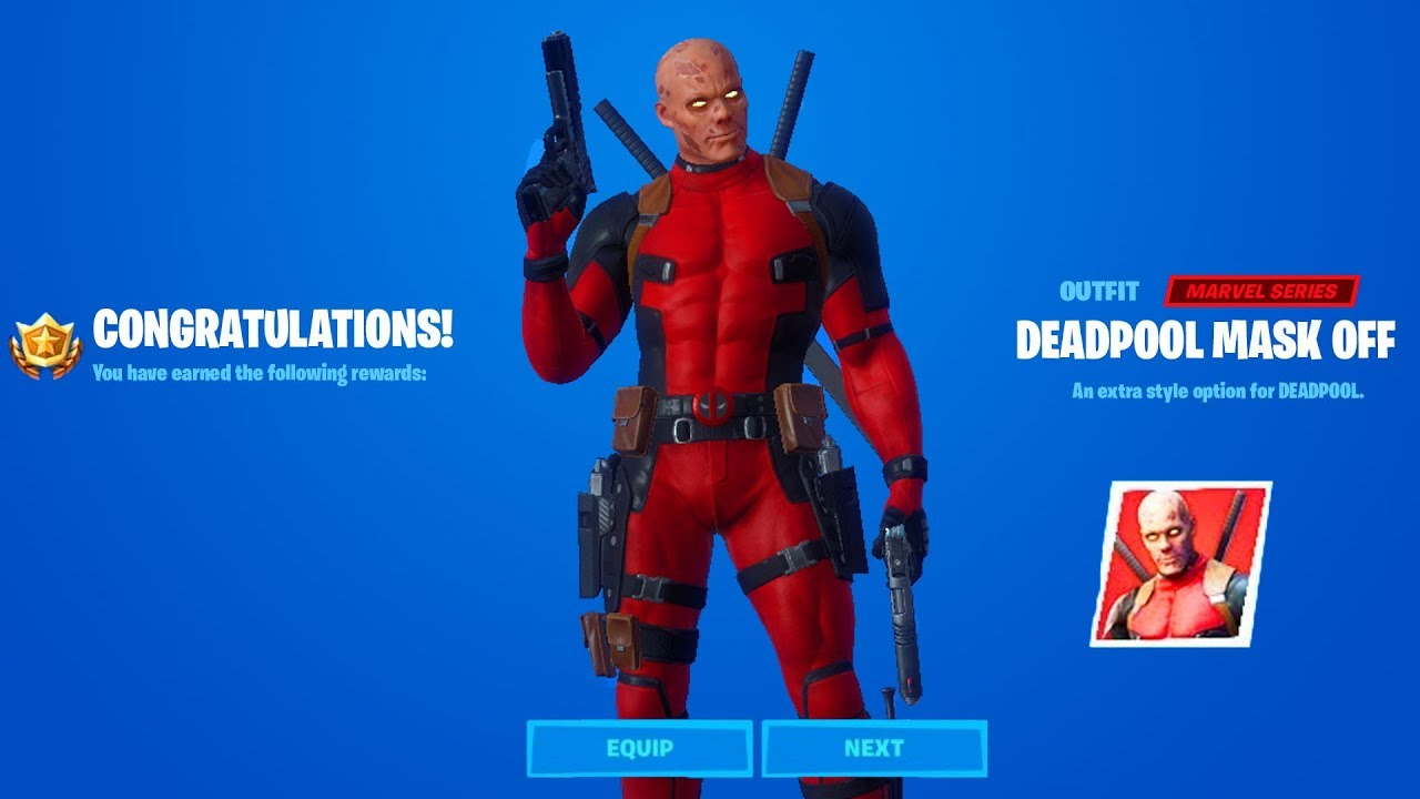 How To Get Deadpool Mask Off Style In Fortnite Week 7 And Week 8 Youtube