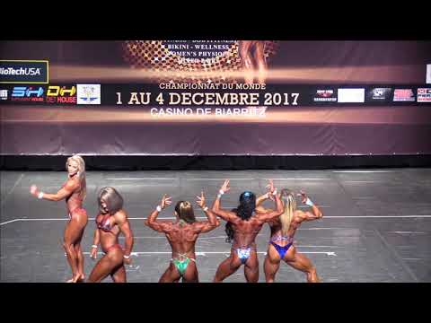 Women's Physique up to 163 at the IFBB World Fitness Championships 2017 (Biarritz), pose down