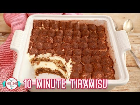 Easy 10 Minute Tiramisu | Bigger Bolder Baking