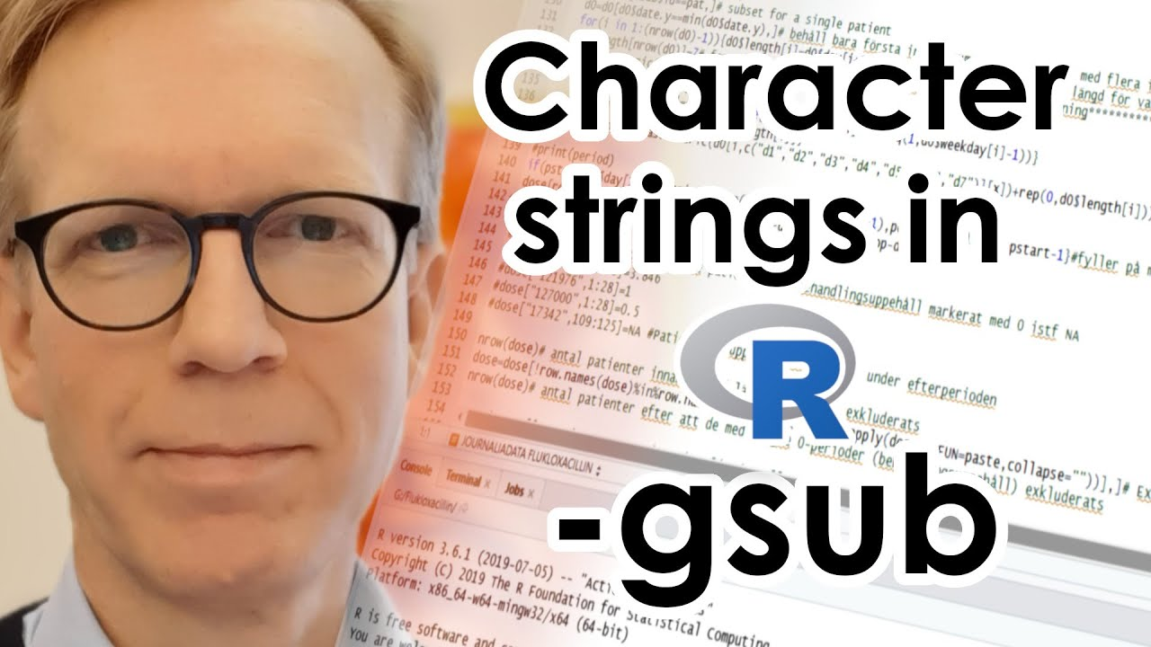Character strings in R - gsub