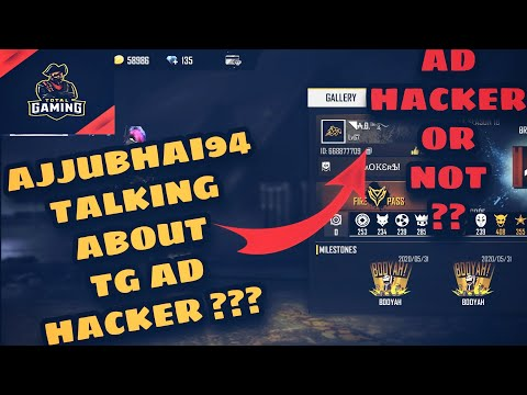 Total Gaming Ajjubhai94 Talking About TG AD Hacker ? | AD Free Fire hacker or not ??? #totalgaming