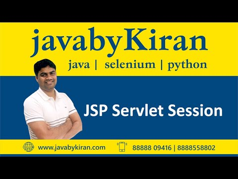 JSP Servlet Session-By Kiran Sir-JAVA By Kiran,Pune