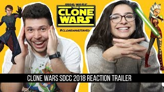 Star Wars: The Clone Wars Official Trailer REACTION!! SDCC #CloneWarsSaved