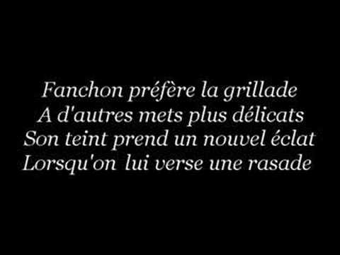 Fanchon - Chanson à boire
