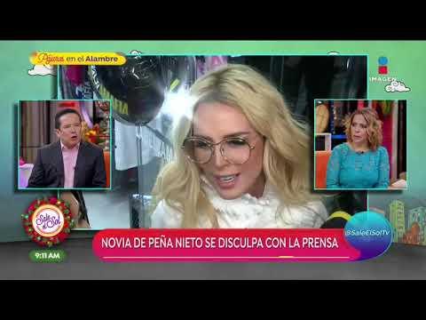 ¡Tania Ruíz, Novia De Enrique Peña Nieto, Se Disculpa Tras Incidente Con La Prensa!   Sale El Sol
