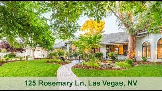 The Most Beautiful Million Dollar Estate Home, 125 Rosemary Ln, Las Vegas, NV