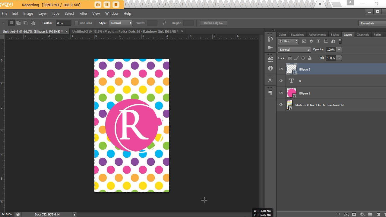 How to make a monogram phone screensaver wallpaper lock screen background Photoshop (DIY tutorial)