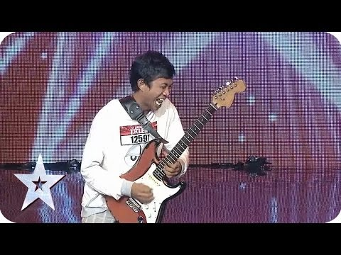 Two Hands Guitar Skill from Eval Sanjaya - AUDITION 7 - Indonesia's Got Talent [HD]