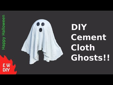 DIY Cement Cloth Ghost!!