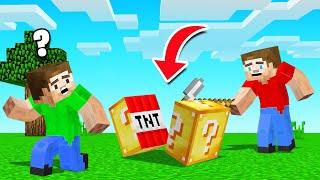 We Found TNT LUCKY BLOCKS In Minecraft!