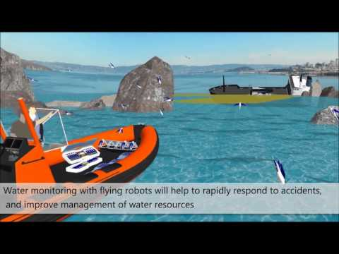 Aquatic Micro Aerial Vehicles (AquaMAV) for water health monitoring