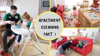 ENTIRE APARTMENT SPRING CLEAN- PART 1: KITCHEN, LIVING, DINING