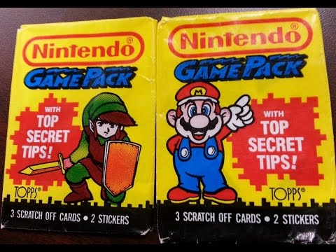 Classic Game Room - TOPPS NINTENDO GAME PACK review