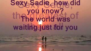 The Beatles Sexy Sadie (karaoke)