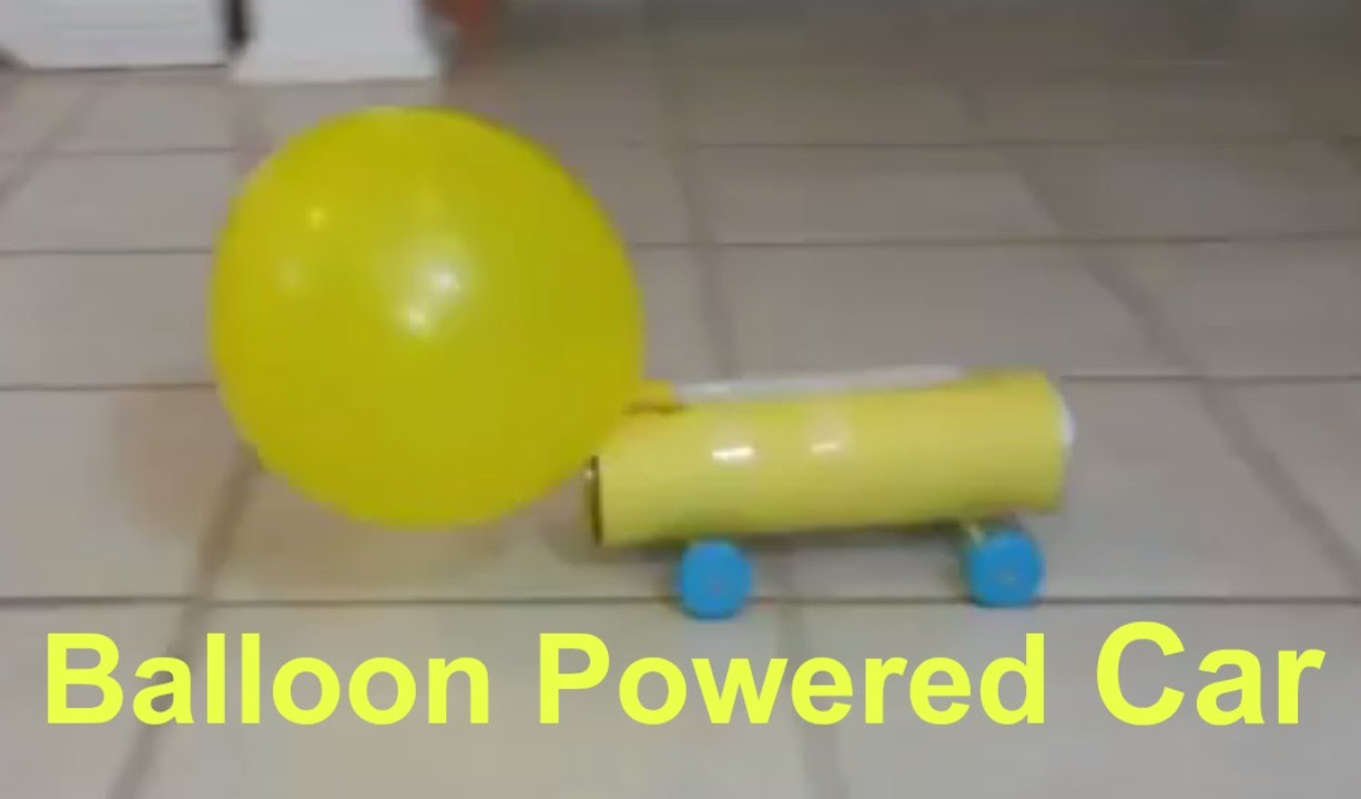 How To Make A Balloon Powered Jet Car From Pringles Box