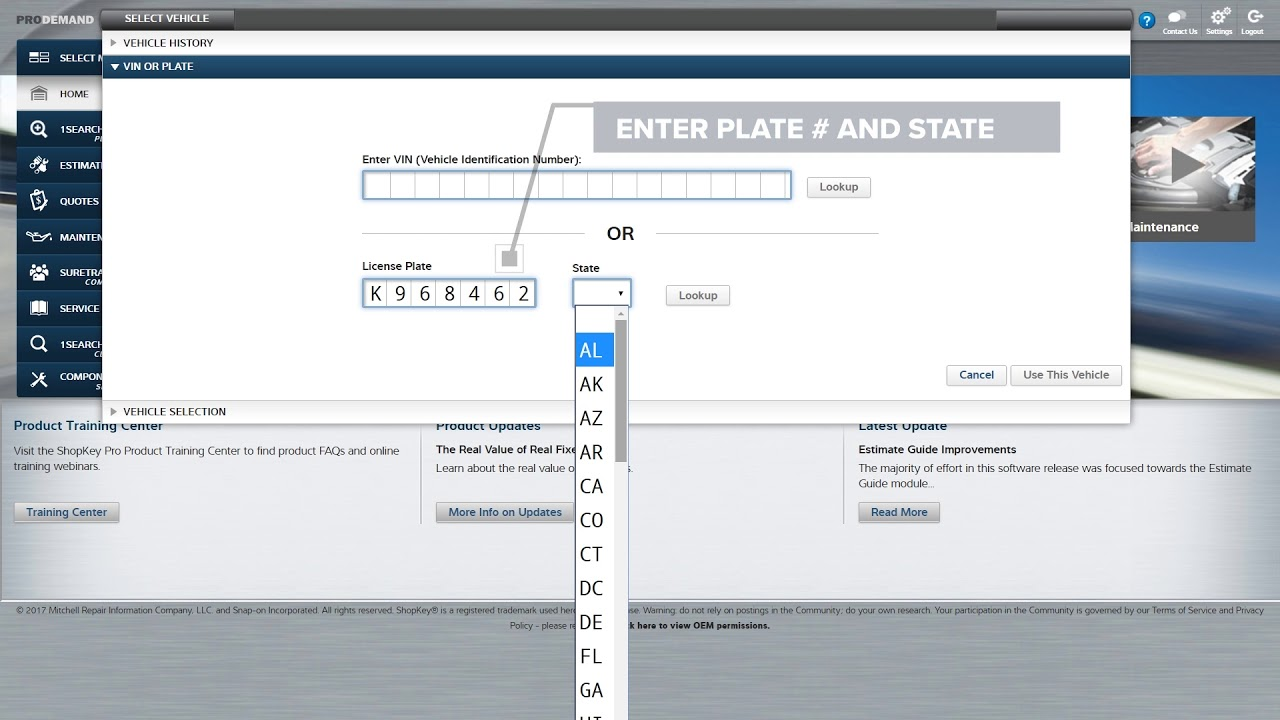 NEW! Plate-to-VIN Lookup in Your Auto Repair Information Software ...
