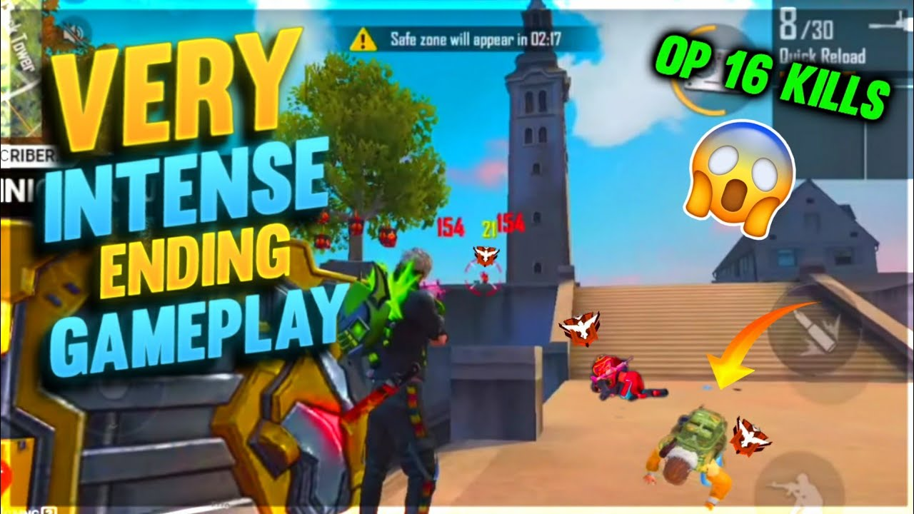 Very Intense Endling Gameplay With Op 16 Kills By Romeo Free Fire🙂