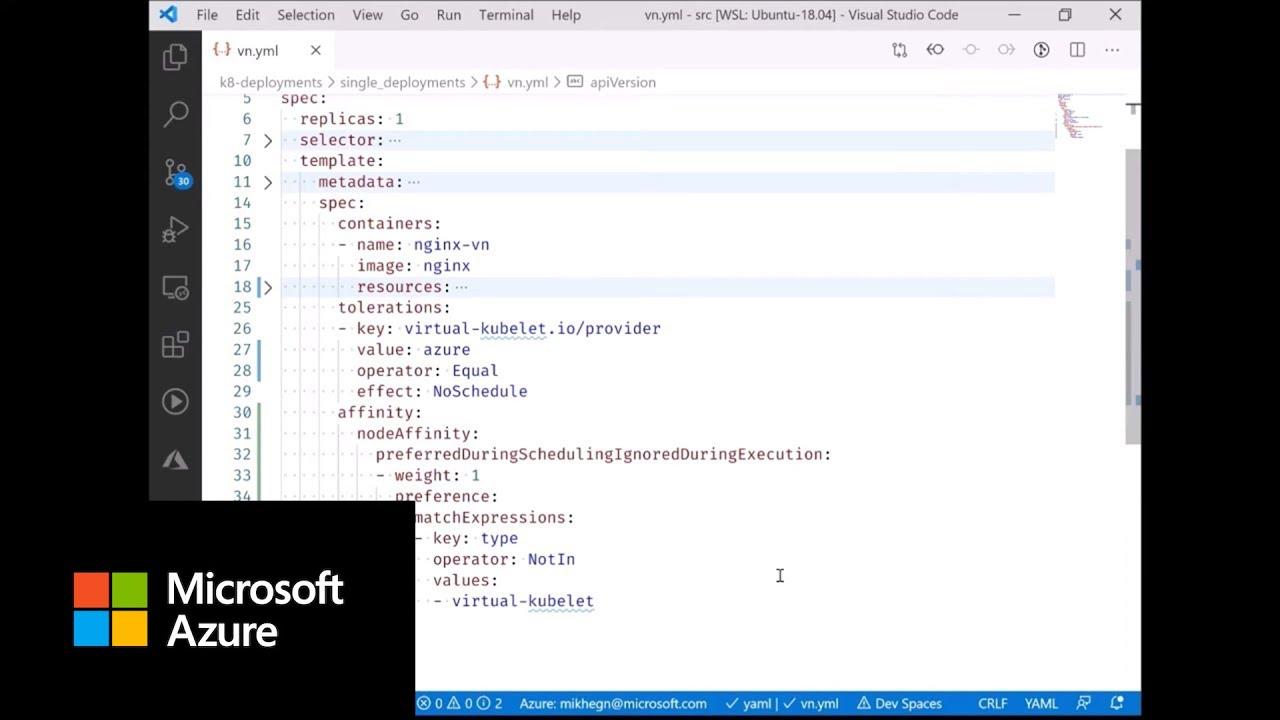 Virtual Node on Azure Kubernetes Service (AKS)