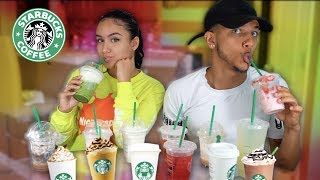 Trying OUR Subscribers FAVORITE Starbucks Drinks!!! 😱😜