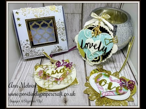 Gorgeous Altered Pizza Box & Embellished Tags