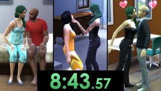 I speedrun seducing an entire family in The Sims 4