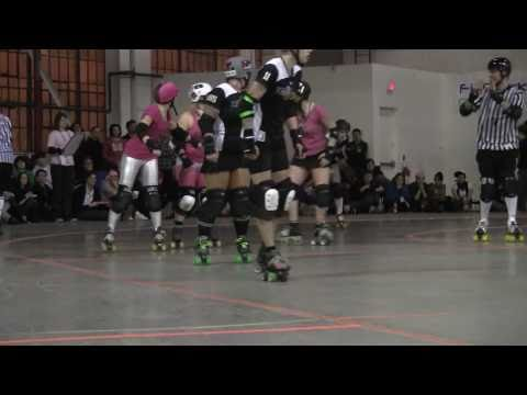 2011 Toronto Roller Derby CN Power vs Killamazoo Derby Darlins Period 2 26 Feb TORD KDD