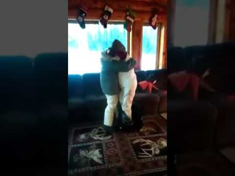 Woman Surprises Twin Sister for the Holidays