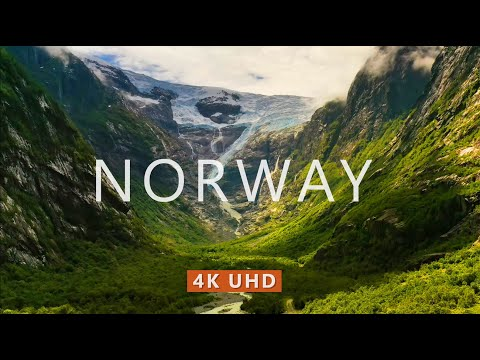 NORWAY NATURE (4K UHD) Ambient Drone Film + Meditation Music for Stress Relief