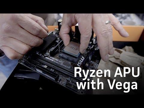 AMD Ryzen APU with Radeon Vega unboxing and install