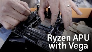 AMD Ryzen APU with Radeon Vega graphics unboxing and install