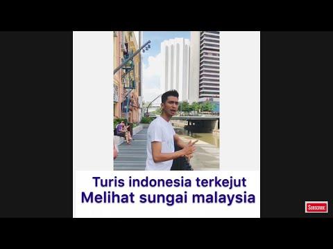 REAKSI ORANG INDONESIA MELIHAT SUNGAI MALAYSIA