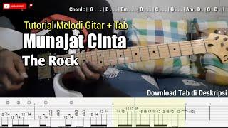 Download Munajat Cinta-The Rock | Tutorial Solo Gitar + Tablature