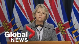 Coronavirus: BC health officials provide Monday COVID-19 case numbers | FULL