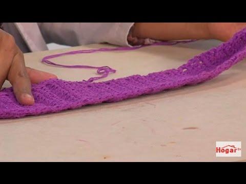 Como hacer una balaca o banda para el cabello en croche - Hogar Tv por Juan Gonzalo Angel