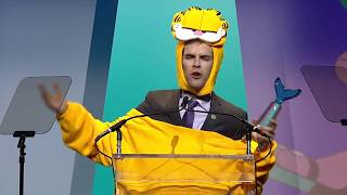 Jacksfilms wins YouTuber of the Year || Shorty Awards 2018