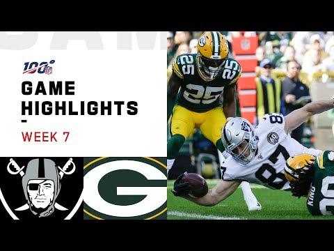 Raiders vs. Packers Week 7 Highlights   NFL 2019