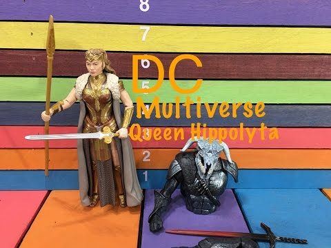 DC Multiverse Wonder Woman QUEEN HIPPOLYTA Collect & Connect Ares action figure toy review