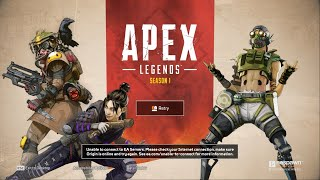 Apex Legends Server Down? Origin Unable to connect to EA Servers. PC, PS4, XBOX