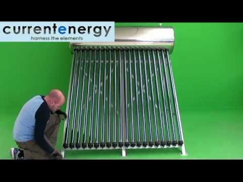 CURRENTENERGY.CA - Part 1 - PHA180 - Evacuated Tube Solar Thermal Collector System