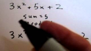 Difficult Trinomial Factoring Using the Method of Decomposition (Example 1)