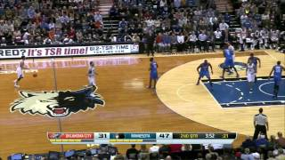 2013.11.1 NBA Minnesota Timberwolves vs Oklahoma City Thunder Ricky Rubio highlights