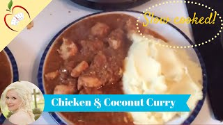 Slow Cooked Coconut Chicken Curry Recipe