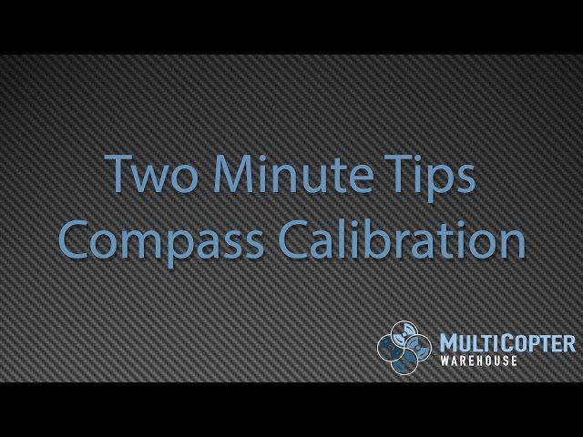 DJI Inspire 1 and Phantom 3 Compass Calibration