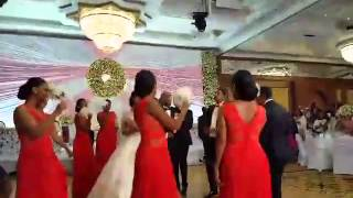 Seifu Fantahun wedding | Dancing with bridesmaids and groom maids