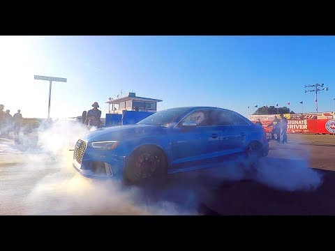 DRAG RACING BIG TURBO AUDI RS3   QUEST FOR 9's   WORLD'S FASTEST 8V RS3