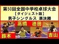 【卓球プレイバック】 卓球全中2019 男子シングルス準決勝ダイジェスト