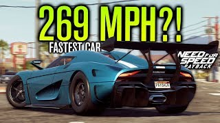 FASTEST CAR IN NEED FOR SPEED PAYBACK! (269 MPH KOENIGSEGG REGERA)