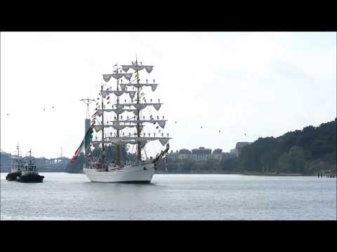 The ARM Cuauhtémoc, Mexican Navy Sail-Away From Singapore July 2017